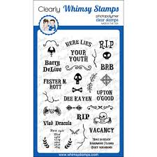 Whimsy Stamps GRAVE EPITAPHS Clear Stamps CWSD338 at Simon Says STAMP!