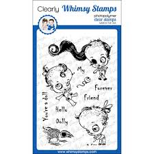 Whimsy Stamps DEAD DOLLY Clear Stamps CWSD343 at Simon Says STAMP!