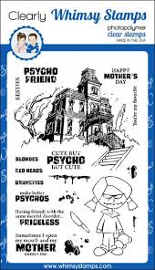 Cute But Psycho Clear Stamps | Whimsy Stamps