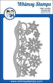Whismy Stamps ELEGANT SNOWFLAKE AND BORDER Dies WSD501 at Simon Says STAMP!